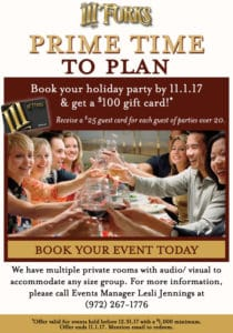 III Forks Holiday Offer