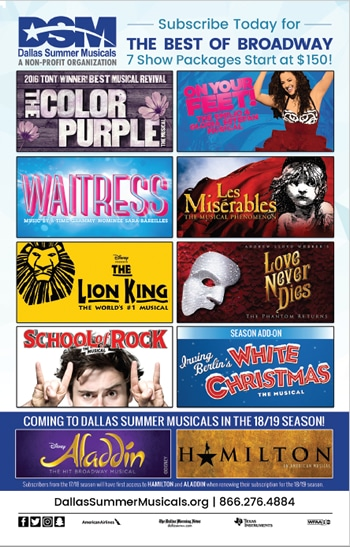 dallas summer musical specials
