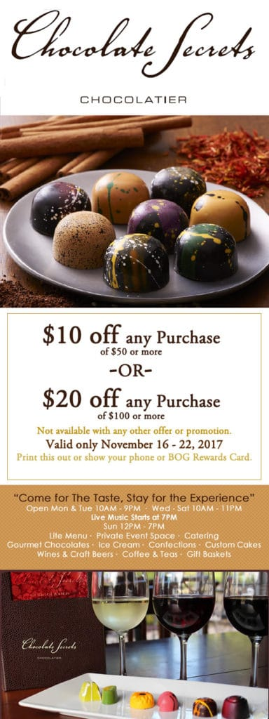Chocolate Secrets $20 Off