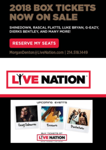live nation tickets